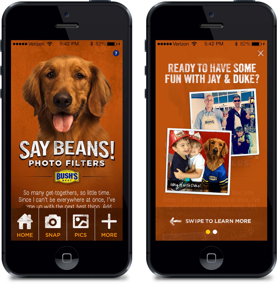 Bush's Beans Mobile App Intro