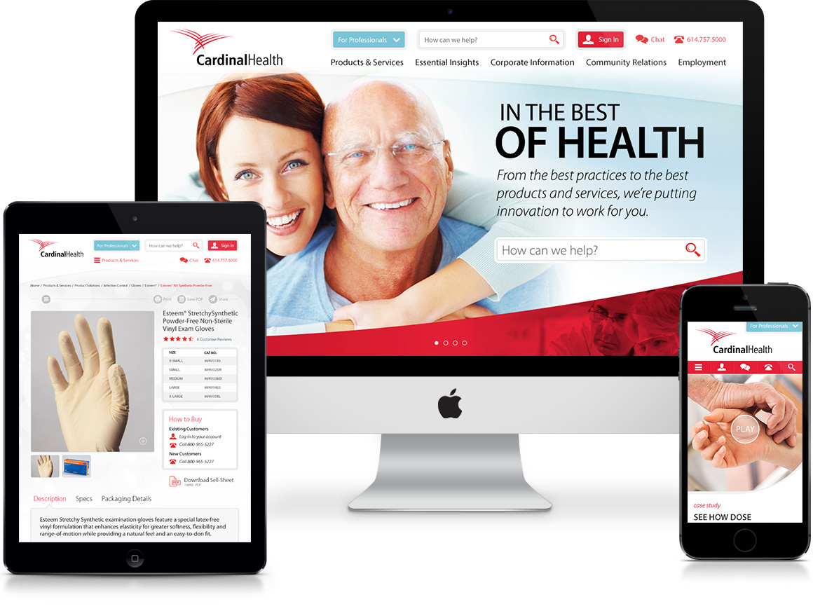 Cardinal Health Website Prototype Intro