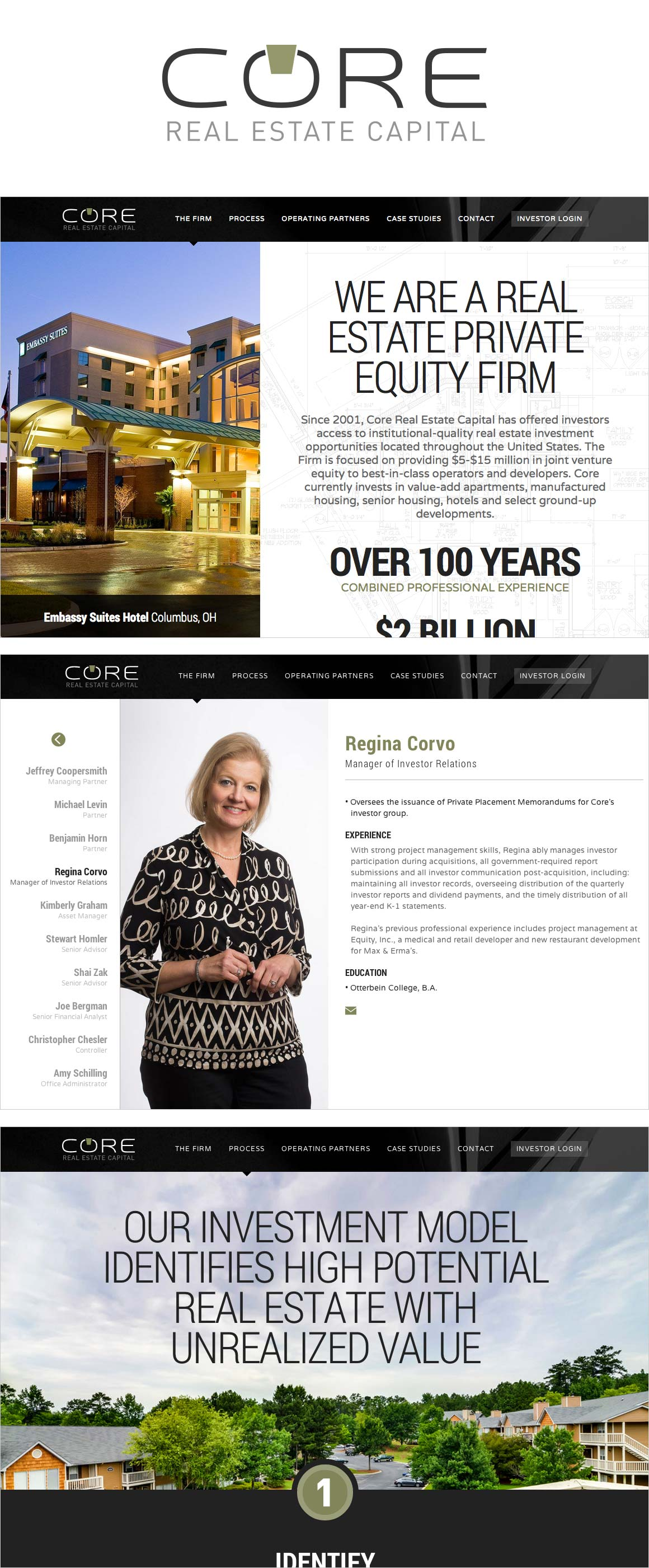 CORE Real Estate Capital Website Design