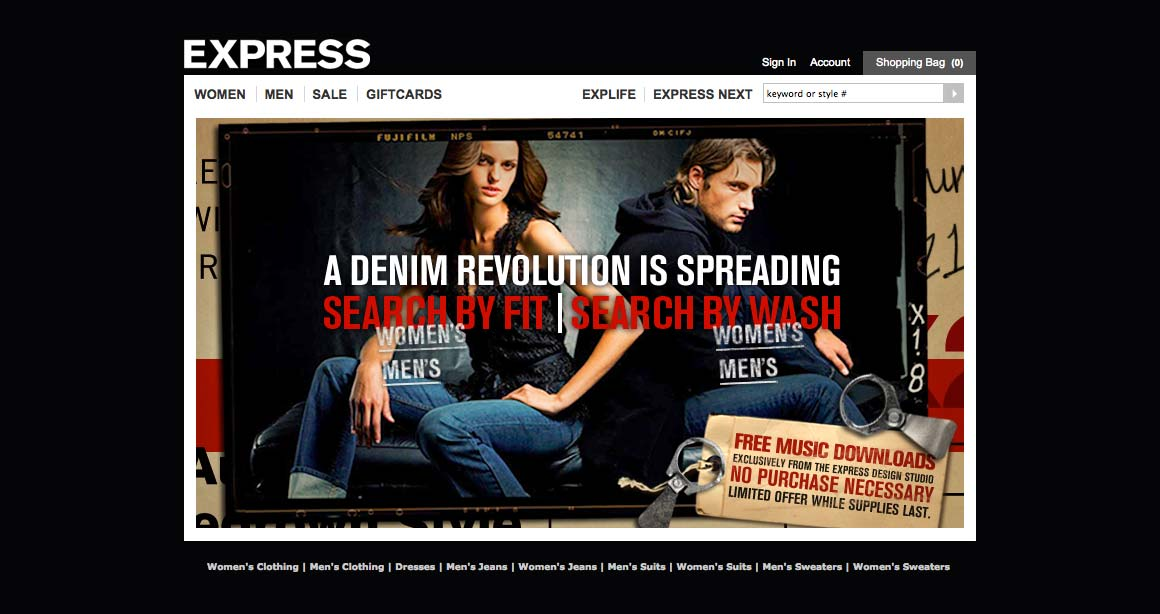 EXPRESS Fashion Promotional Website Intro