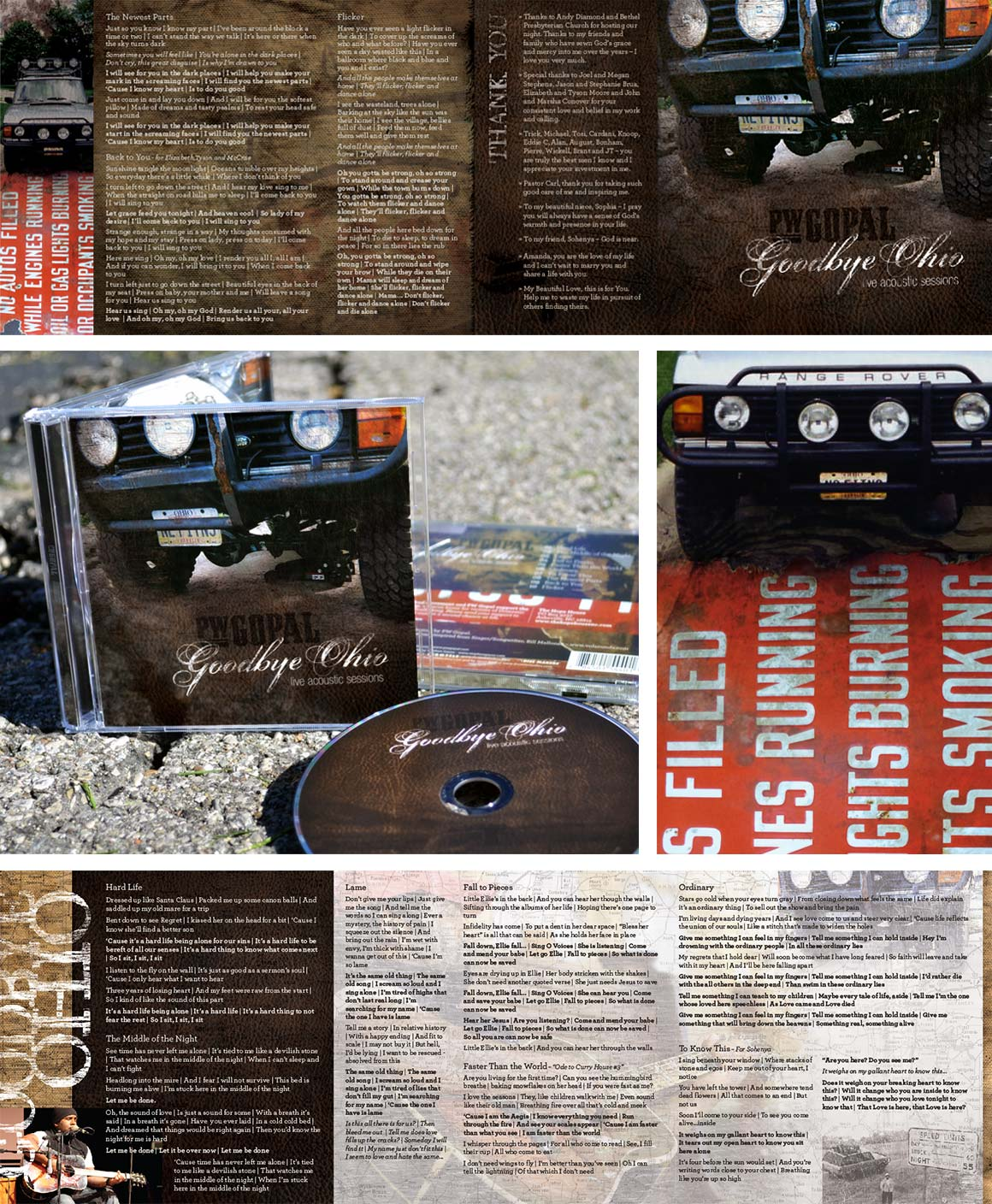 PW Gopal: Goodbye Ohio CD Packaging Design