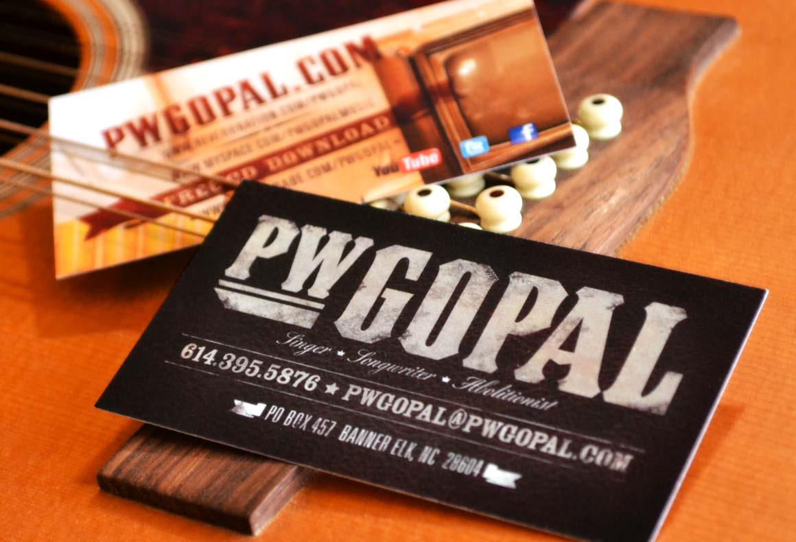 PW Gopal Business Cards Intro