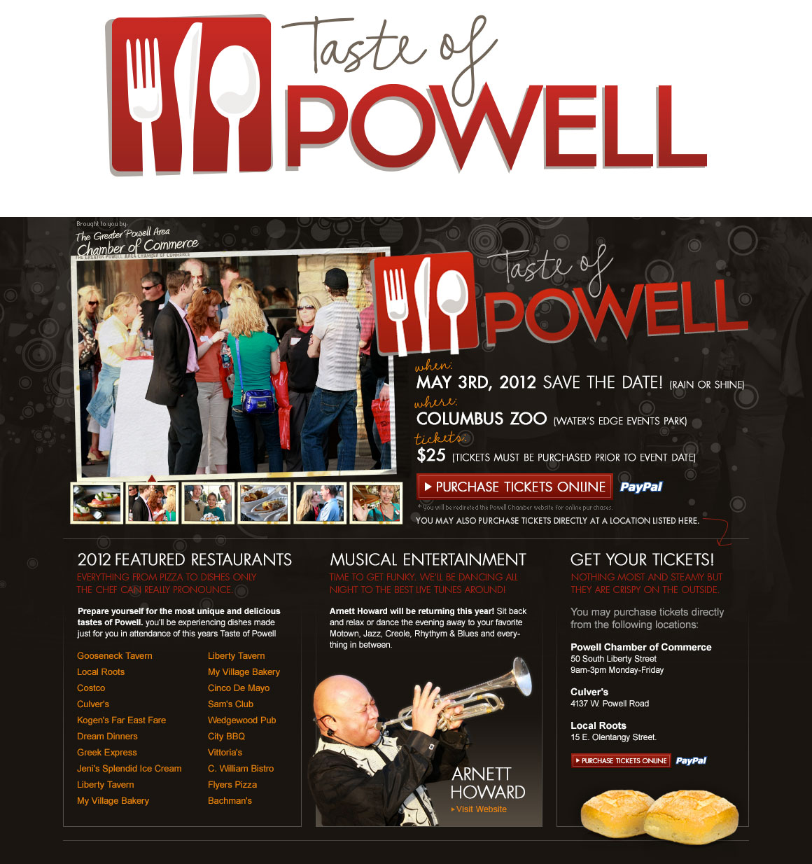 Taste of Powell Event Website Design